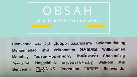 obsah vícejazyčného webu